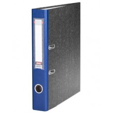 Папка-рег. 50мм 5ПР_00309  мраморная синяя Hatber