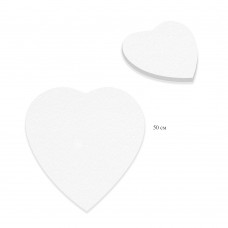 Холст грунтованный на подрамнике Сердце, лён 1071-50см