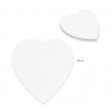 Холст грунтованный на подрамнике Сердце, лён 1071-60см