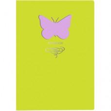 Книга для записей А6+ (105x148), 80л. 80г/м2, Иск.кожа интегр.,