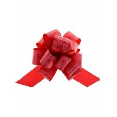 Бант оформительский -шар с принтом Розы, 3 см, красный БЛ-6522 Миленд