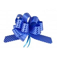 Бант оформительский - шар с принтом Полоски. 3 см синий БЛ-6494 Миленд