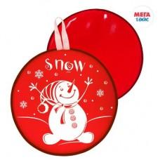 Ледянка мягкая диаметр 35см, с принтом,  цвет: красный МТ12117 Мега Тойс