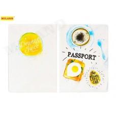Обложка д/паспорта Завтрак ПВХ slim ОП-0462 Миленд