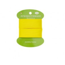 Лента декоративная атласная шир 25мм дл 3м желтая 2-616/11 Альт