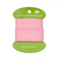 Лента декоративная атласная шир 25мм  дл 3м розовая 2-616/13 Альт