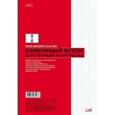 Сменный блок 80л., А4, для тетради на кольцах 80СБ4В1_02449 Хатбер