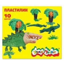 Пластилин 10цв. 150 гр. со стек. ПКМ10 Каляка-Маляка