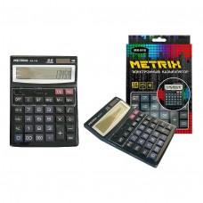 Калькулятор настольный, 16-разрядный, 2-е питание, 15х21см. MX-916 METRIX