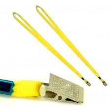 Шнур для бейджа ,металлический клип, шнур 0,9х87см. К-1081 желтый J.Otten