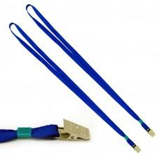 Шнур для бейджа ,металлический клип, шнур 0,9х87см. К-1081 синий J.Otten