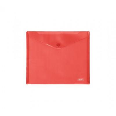 Папка-конверт с кнопкой 243х210мм, 18мкр, А5, красная АКк_15103 Hatber