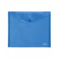 Папка-конверт с кнопкой 243х210мм, 18мкр, А5, синяя АКк_15102 Hatber