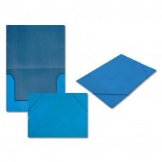 Папка на резинке 5037-2 голубая, А4, картон J.Otten /10 /0 /480 /0