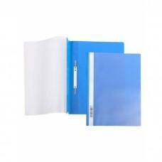 Папка-скоросш. 140/180мкм А4 прозр. верх. лист синяя AS4_00102 Hatber