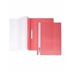 Папка-скоросш. 140/180мкм А4 прозр. верх. лист красная AS4_00103 Hatber