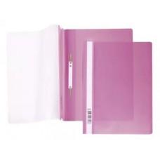 Папка-скоросш. 140/180мкм А4 прозр. верх. лист розовая AS4_00112 Hatber