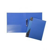 Папка на 2-х кольцах 40мм А4 STANDARD синяя+карман 24АВ4_00109 Hatber