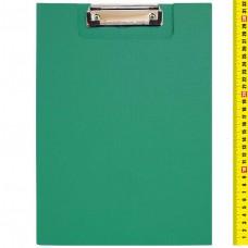 Планшет - папка А4, с зажимом, с крышкой, картон, ПВХ, ЗЕЛЁНЫЙ 3288 J.Otten