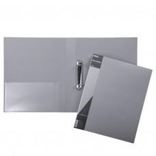 Папка на 2-х кольцах 40мм А4 STANDARD серая+карман 24АВ4_00114 Hatber