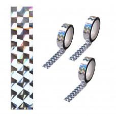 Клейкая лента голография 5523-1 Серебро, 1.2СМ*15М, ПВХ J.Otten /12 /0 /2400 /0