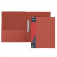 Папка на 2-х кольцах 25мм А4 STANDARD красная+карман 2АВ4_00115 Hatber