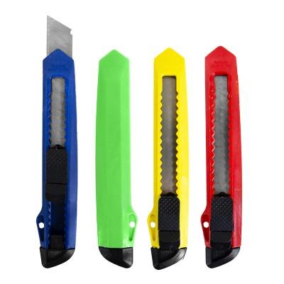 Нож канцелярский большой  ЭКО, 18мм, фиксатор, ассорти 9243 J.Otten